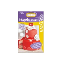 8 pcs Royal fondant, red