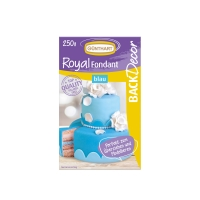 8 pcs Royal fondant, blue