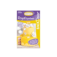 8 pcs Royal fondant, yellow