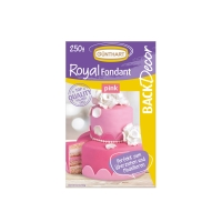 8 pcs Royal fondant, pink
