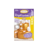 8 pcs Royal fondant, gold