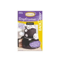 8 pcs Royal fondant, black