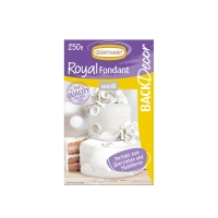 8 pcs Royal fondant, white