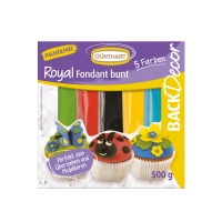 7 pcs Royal fondant, ass. colors