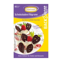 15 pcs Chocolate filigrees