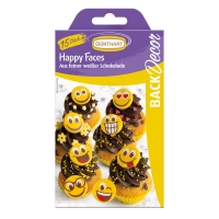 15 pcs Chocolate happy faces