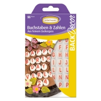 15 pcs Sugar letters & numbers
