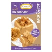 8 pcs 250g Rolling fondant, gold  Palm oil free