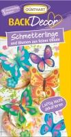 15 pcs. Wafer butterflies and flowers