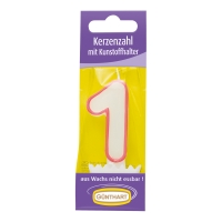 15 pcs Candle Number with Holder No. 1