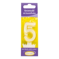 15 pcs Candle number with holder Nr. 5