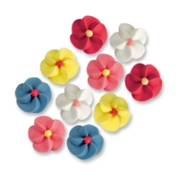 500 pcs Small sugar flowers, assorted