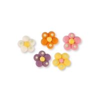 200 pcs Sugar flowers, small, assorted