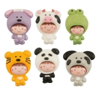 Sugar babies in animal costume, flat, assorted
