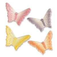 48 pcs Tragacanth sugar butterflies small, assorted