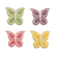 72 pcs Sugar butterflies, flat, assorted
