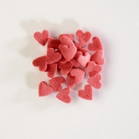 1,5 kg Sugar toppings,  Hearts , red