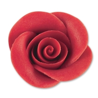 24 pcs Large marzipan roses, red