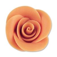 24 pcs Large marzipan roses, salmon