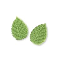 100 pcs Large marzipan rose leaves, green