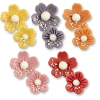 90 pcs Marzipan flowers large & small, various