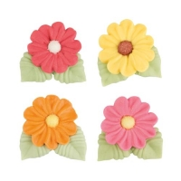 60 pcs Flowers with leaves