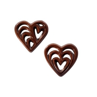 260 pcs Chocolate filigrees, hearts