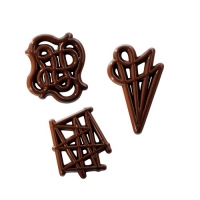 380 pcs Chocolate filigrees