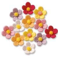 120 pcs Sugar flowers, colours