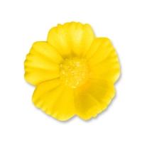 96 pcs Medium flowers, yellow