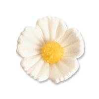 96 pcs Medium flowers, white