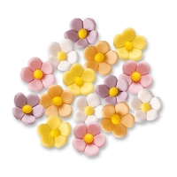 540 pcs Flowers, small, colours