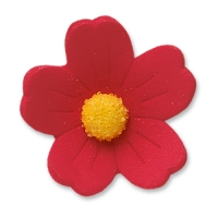 60 pcs Large flowers, red