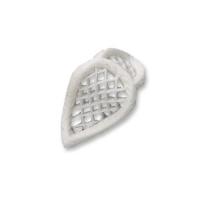 60 pcs Filigrees, white, small