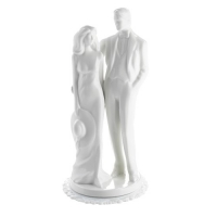 1 pcs Porcelain couple top, white, big