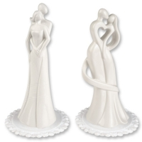 2 pcs Porcelain couple top, white, 2 versions