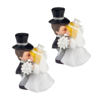 5 pcs Kissing bride and groom