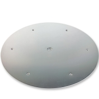 1 pcs Aluminium plates silver