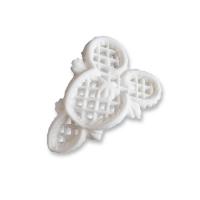 18 pcs Filigrees, white, small