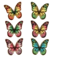 100 pcs Decor plaque butterflies