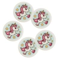 100 pcs Decor plaque unicorn