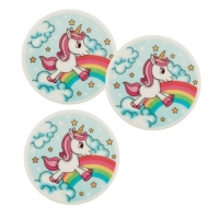 12 pcs Decor plaque unicorn
