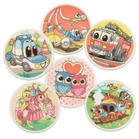 12 pcs Decor plaque kids' motives, assorted