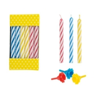 144 pcs Candles with plastic holders