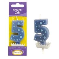 15 pcs Candle figure blue  5