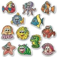 100 pcs Sugar coating plaques  Marine animals