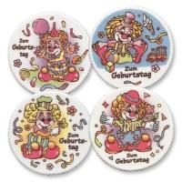 12 pcs Clowns  Happy Birthday  plaques
