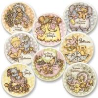 Christening sugar coating plaques