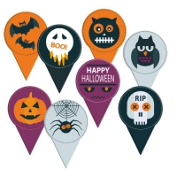 120 pcs Card decoration  Halloween , printed both-sided