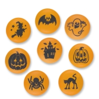 84 pcs Sugar dots  Halloween  with assorted motives